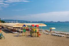 """Пляж пансионата """"Приветливый берег"""""""